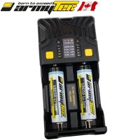 Chargeur Armytek UNI C2 universel batterie Li-ion, IMR, Li-FePO4, Ni-MH, Ni-Cd