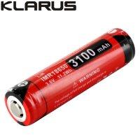 Batterie Klarus 18GT-IMR31 18650 3100mAh protégée Lithium Manganèse