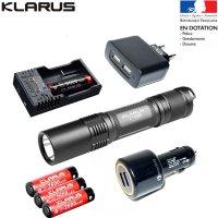 Pack lampe Klarus XT2C - 1100Lumens avec ses accessoires