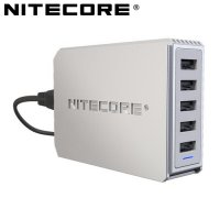 Chargeur USB Nitecore UA55 5 sorties USB en 2000mA