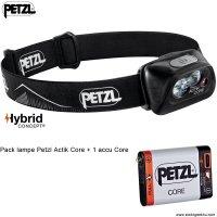 Pack Lampe Frontale Petzl ACTIK CORE 450Lumens + 1 accu Core