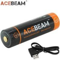 Batterie Acebeam 21700 5100mAh 3.7V protégée LIR port USB intégré